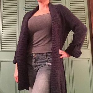 Navy Croft and Barrow knit sweater coat
